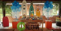 Festa no tema Surfe. Mais ideias aqui: http://mamaepratica.com.br/2015/04/20/10-temas-para-festa-de-menino/