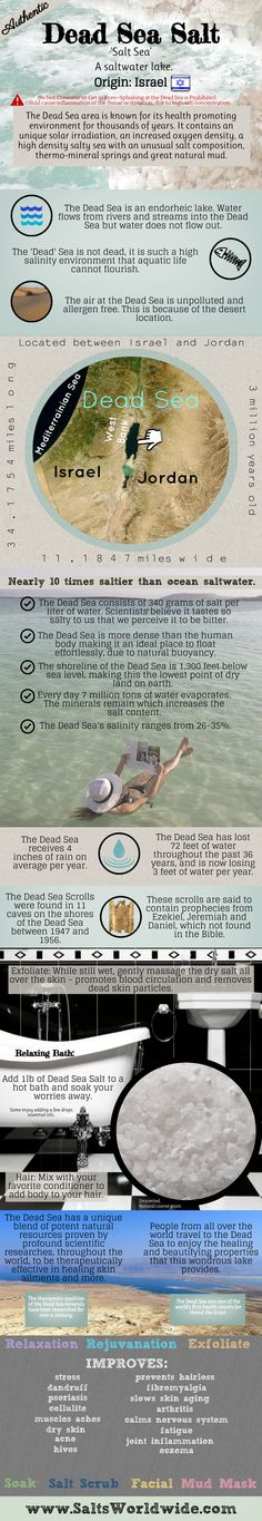Learn why Dead Sea Salt is one of the most sought after salts in the world!  #Salt by Salts Worldwide