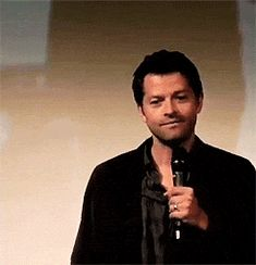 GIF... Shy Misha. Cutest thing I have EVER seen him do. Promise.....Really cute!