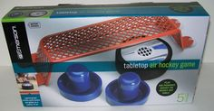 MIB Emerson Tabletop AIR HOCKEY GAME 5 pcs Battery Operated NEW free shipping #emerson