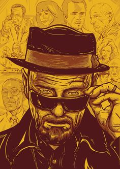 I am the one who knocks - Heisenberg from Breaking Bad Heisenberg, Caricatures, Breaking Bad Arte, Braking Bad, Pop Art, Most Popular Tv Shows, Movie Poster Art, I Am The One, Land Of Enchantment