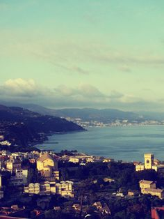 Arenzano Italy where we stayed, hanging off a cliff with the most stunning view of the med = falling in love with traveling!