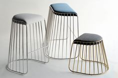 Bride's Veil Stools by Reza Feiz for Phase Design