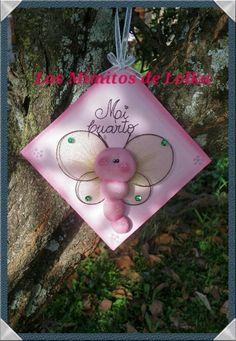 Cartel con mariposa soft