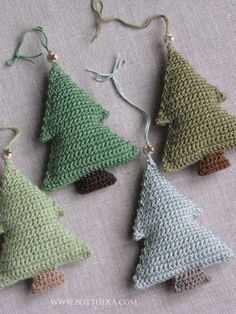 Crochet Christmas trees (here added scent) . Crochet Christmas trees (here added scent) . Always wanted to be able to knit, nonetheless unclear how to start? Crochet Christmas Decorations, Christmas Crochet Patterns, Crochet Christmas Ornaments, Holiday Crochet, Noel Christmas, Christmas Knitting, Christmas Crafts, Tree Decorations, Crochet Tree