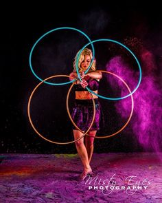 Powder Portrait: Hula Hoop