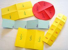 Paper folding / Activities / Fractions / Topdrawer / Home - Topdrawer Fraction Games, Fraction Activities, Kids Math Worksheets, Kindergarten Activities, Fraction Wall, Math Games, Preschool Math, Math Classroom, Teaching Math