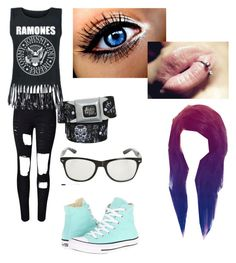 """Untitled #69"" by grace-hobson on Polyvore featuring WithChic and Converse"