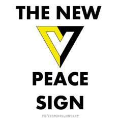 The new peace sign: V for Voluntary!