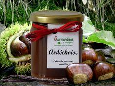 ARDÉCHOISE Châtaignes, sucre, gousse de vanille fraîche de Madagascar -250 g  Un délice d'automne onctueux. Elle S'accorde très bien avec la poire, la pomme, le chocolat, l'orange, le café, la noix, le rhum, la noix de coco.