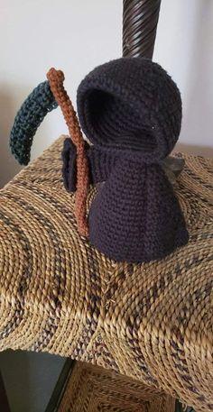 Halloween Crochet Patterns, Crochet Patterns Amigurumi, Crochet Dolls, Knitting Patterns, Crochet Dragon Pattern, Kawaii Crochet, Cute Crochet, Knit Crochet, Crotchet