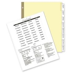 Insertable Ring Book Indexes, 8-Tabs, Clear (Set of 5)