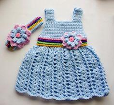 Crochet Baby Dress Camille | Craftsy