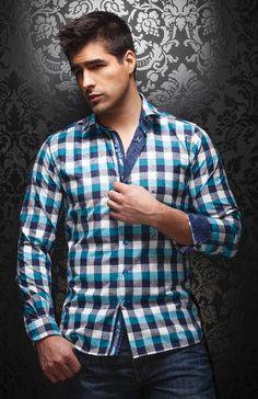 Au Noir fashion Men's dress Shirts