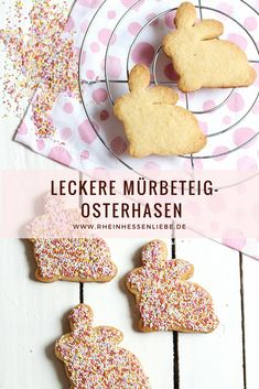 Recipe: delicious short pastry Easter bunnies- Rezept: leckere Mürbeteig-Osterhasen Easter is really delicious with these shortcrust pastries. Now look at my cookie recipe: - Easy Cake Recipes, Healthy Dessert Recipes, Easy Desserts, Cookie Recipes, Easter Bunny Cake, Easter Cupcakes, Dessert Simple, Short Pastry, Desserts Ostern