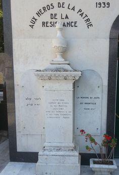 Nice - Cimetière du Colline. In Nice ligt op de Colline du Château een prachtige - en oude - begraafplaats. op een apart Joods deel wordt as bewaard uit Auschwitz. Foto: G.J. Koppenaal - 1/7/2013.