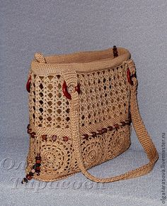 -Crochet - Bags, Purses, Totes, Sacks, Clutches, Cases, Pouches. Website full of illustrations of bags. No patterns. http://fashionbagarea.blogspot.com/ We can spot a chanel clutch from a mile off. Those golden studs are set perfectly against the chic tan shade.$159 Want!