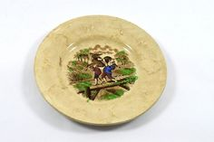 Vintage old collectible decorative beautiful hand painted dish plate. i20-22 #Unbranded
