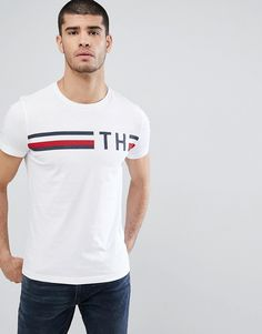 da4b38837fe  tommyhilfiger  cloth   White Short Sleeve Shirt