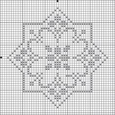 Pattern star biscornu - Crochet / knit / stitch charts and graphs Biscornu Cross Stitch, Cross Stitch Borders, Cross Stitch Flowers, Cross Stitch Charts, Cross Stitch Designs, Cross Stitching, Cross Stitch Embroidery, Embroidery Patterns, Cross Stitch Patterns