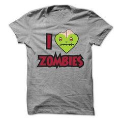 I Love Zombies T Shirts, Hoodies. Get it now ==► https://www.sunfrog.com/Zombies/I-Love-Zombies-T-Shirt-42483612-Guys.html?41382
