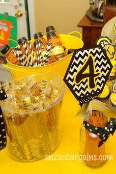 MORE Bee Theme Snacks! Entire HUGE list of Bee Theme Birthday Party Ideas!