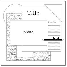 scrapbook layout--1 photo (music sheet or word page as a background piece)