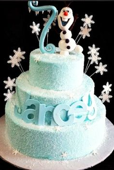 Olaf Cake - For all your cake decorating supplies, please visit craftcompany.co.uk
