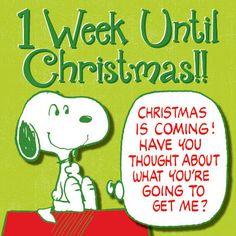 1 week til Christmas