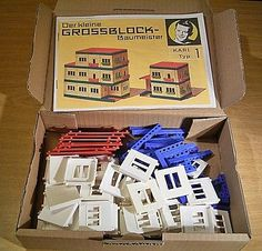 """GDR construction kit """"The small large block builder type 1 / K"""" , 90s Toys, East Germany, Technical Drawing, Vintage Roses, Childhood Memories, Construction, Kit, Drawings, Buildings"""