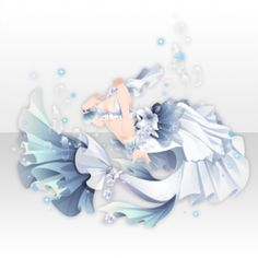 Fairy Tale Mermaid Dress ver.A blue