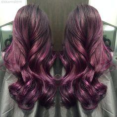 purple burgundy highlights - Google Search