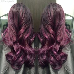 purple burgundy highlights - Google Search