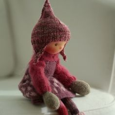 """Caia - 14"""" knitted doll"""