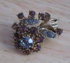 Vintage Florenza Multicolor Rhinestone by GotMilkGlassAndMore, $14.95  #vjse2 #vintage #jewelry