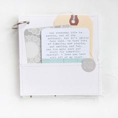Mini albums are my go-to when I want to create something but am struggling with direction and flow of a project. They are simple to put together and the canvas is small enough that I don't have to be