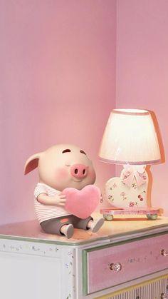 why is this pig lookingso cute Pig Wallpaper, Snoopy Wallpaper, Animal Wallpaper, Cute Piglets, Wonder Art, Pig Drawing, Pig Illustration, Pig Art, Mini Pigs