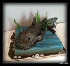 Catfish Birthday Cake - cake by Angel Rushing Fish Cake Birthday, Birthday Sheet Cakes, 9th Birthday, Birthday Parties, Wedding Sheet Cakes, Camo Cakes, Dad Cake, Funny Cake, Modeling Chocolate