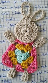 Crochet Bunny Applique Free Patterns: Easy and Quick Easter Bunny / Rabbit Applique and Motifs crochet pattern most free for Easter crochet decoration Easter Crochet Patterns, Crochet Bunny Pattern, Crochet Motif, Crochet Flowers, Knit Crochet, Crochet Home, Crochet For Kids, Crochet Crafts, Crochet Projects