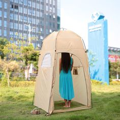 TOMSHOO Portable Outdoor Shower Bath Changing Fitting Room Tent Shelter Camping Beach Toilet - Walmart.com - Walmart.com Camping Room, Camping Places, Tent Camping, Camping Stuff, Camping Life, Portable Outdoor Shower, Portable Tent, Portable Potty, Outdoor Showers