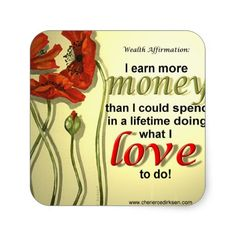 Money Affirmation Stickers