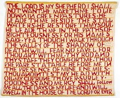 """Lena Moore Psalm 23 Quilt ca. 1930 Collection of Janet M. Green """"Talking Quilts"""" American Folk Art Museum"""