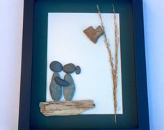 Gift Pebble Art-Unique Engagement Gift-Personalized von MedhaRode