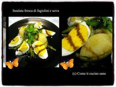 Insalata+fresca+di+fagiolini+e+uova+con+aceto+balsamico Sushi, Eggs, Breakfast, Ethnic Recipes, Morning Coffee, Egg, Egg As Food, Sushi Rolls