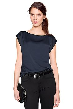 accent chiffon blouse dark blue COLLECTION - Esprit tummansininen pusero
