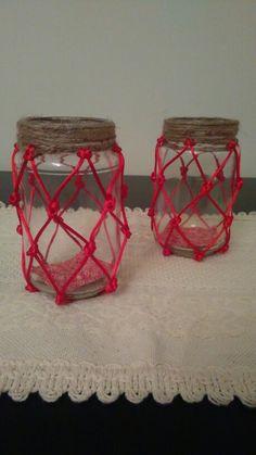 Red rope jar