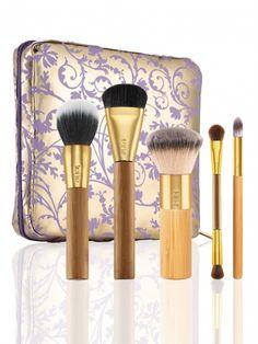 Tarte Cosmetic 5 Bamboo Brushes and Makeup Bag
