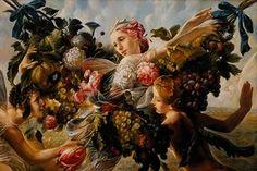⊰ Posing with Posies ⊱ paintings of women and flowers - Elena Flerova