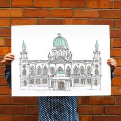 Picture of Belfast City Hall Original Screen Print from flat fox designs