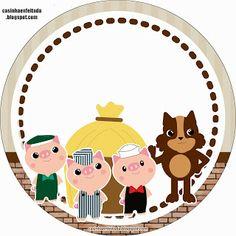 Kit Festa 3 Porquinhos Para Imprimir Grátis